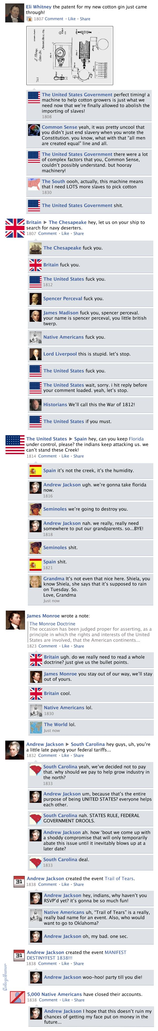 Facebook News Feed History of the World > Antebellum