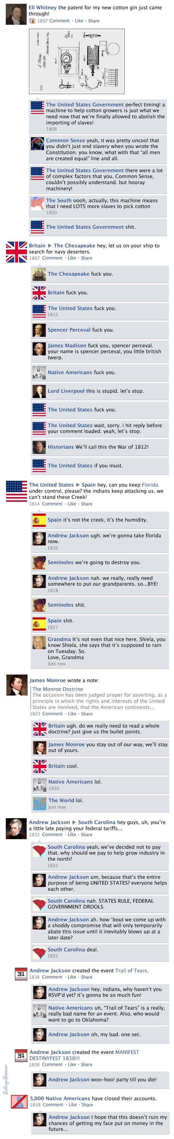 Facebook News Feed History of the World > Antebellum