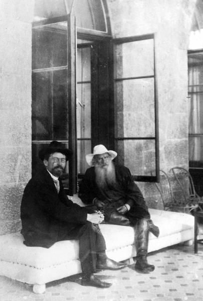 Leo Tolstoy (1828 – 1910) and Anton Chekhov (1860 – 1904) in Crimea, 1901