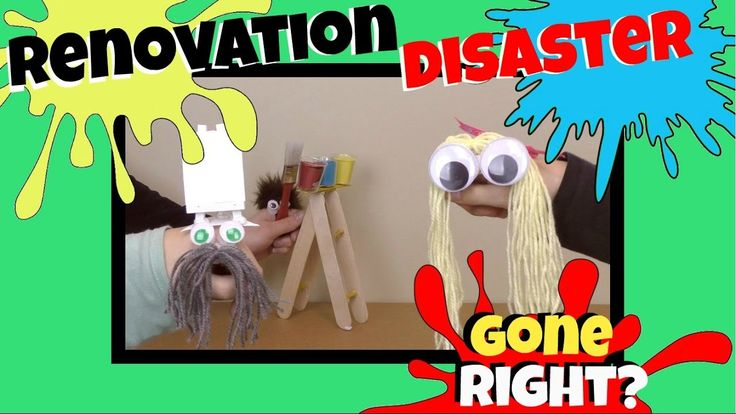 HAND PUPPET SHOW FOR CHILDREN - RENOVATION DISASTER GONE RIGHT?