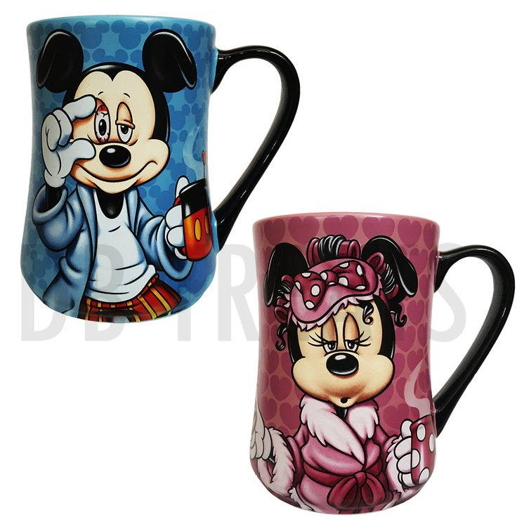 "Disney Parks Mickey Mouse and Minnie Mouse ""Mornings"" Coffee Mug Set Mickey Mouse and Minnie Mouse ""Mornings"" mug set is perfect for those that need their morning pick me up before starting the day. B"