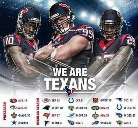 2015 Texans schedule