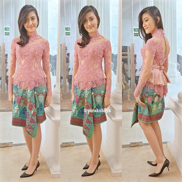 Instagram media by verakebaya - Fitting ...❤️ #partydress #tenunbali #lace #verakebaya ...thx Dini