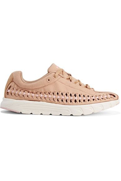 Nike - Mayfly Woven Faux Leather-trimmed Faux Suede Sneakers - Sand - US8.5
