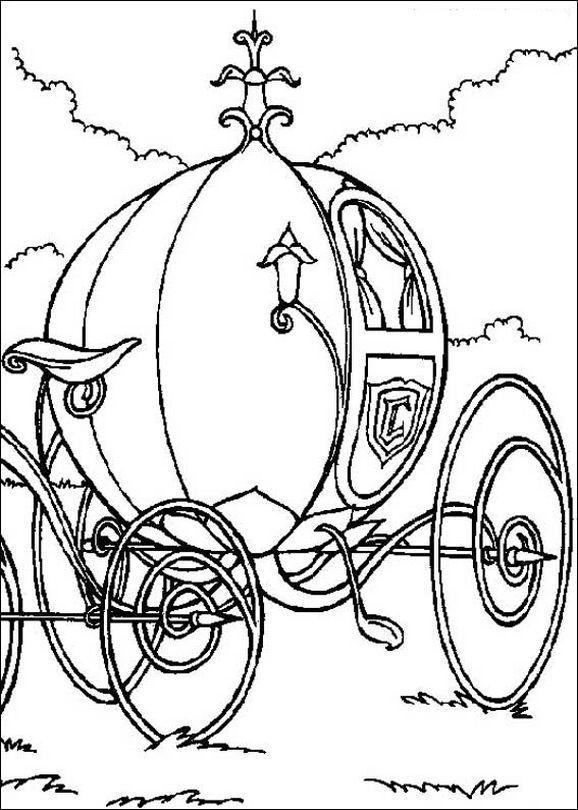 La bella carrozza di Cenerentola #cinderella #adultcoloring