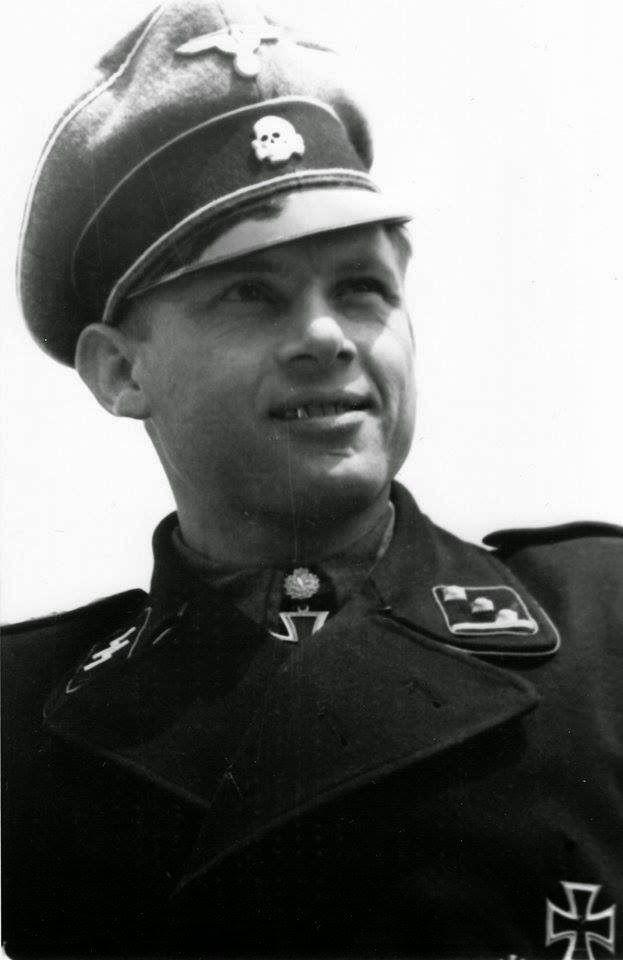 "✠ Michael Wittmann (22 April 1914 – 8 August 1944) killed in action near the town of Saint-Aignan-de-Cramesnil. RK 14.01.1944 SS-Untersturmführer Zugführer i. d. 13.(s.)/SS-Pz.Rgt 1 ""LSSAH"" + [380. EL] 30.01.1944 SS-Untersturmführer Zugführer i. d. 13.(s.)/SS-Pz.Rgt 1 ""LSSAH"" + [71. Sw] 22.06.1944 SS-Obersturmführer Chef 2./s.SS-Pz.Abt 501"