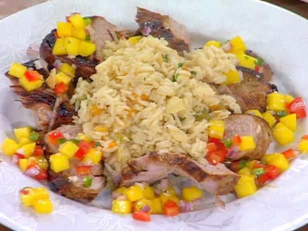 The 25 best rice pilaf recipe food network ideas on pinterest pan roasted lime marinated pork tenderloin with mango salsa and almond rice pilaf recipe emeril lagasse recipes food network forumfinder Image collections