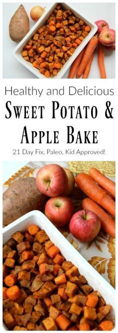 Delicioius and healthy sweet potato and apple bake. 21 day fix recipe, paleo recipe, gluten free, healthy, and kid approved!#veganrecipes #fallfood #21dayfix #glutenfreerecipe #kidfood #kidapproved #veganfood #vegetarianrecipes #glutenfreevegan #fallrecipes #healthythanksgiving #vegetarianthanksgiving #thanksgivingrecipes #babyledweaning