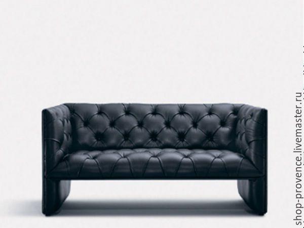 Купить Диван (каретная стяжка) двухместный - темно-серый, Мебель, мебель на заказ, диван, кресло