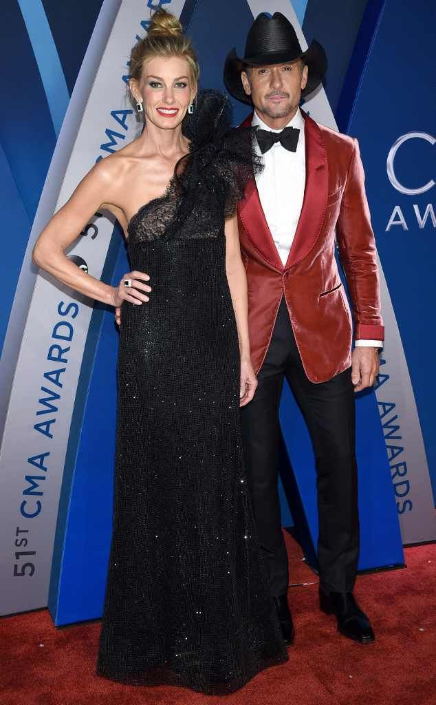 Faith Hill & Tim McGraw from 2017 CMA Awards: Red Carpet Fashion  The king and queen of country music have arrived!