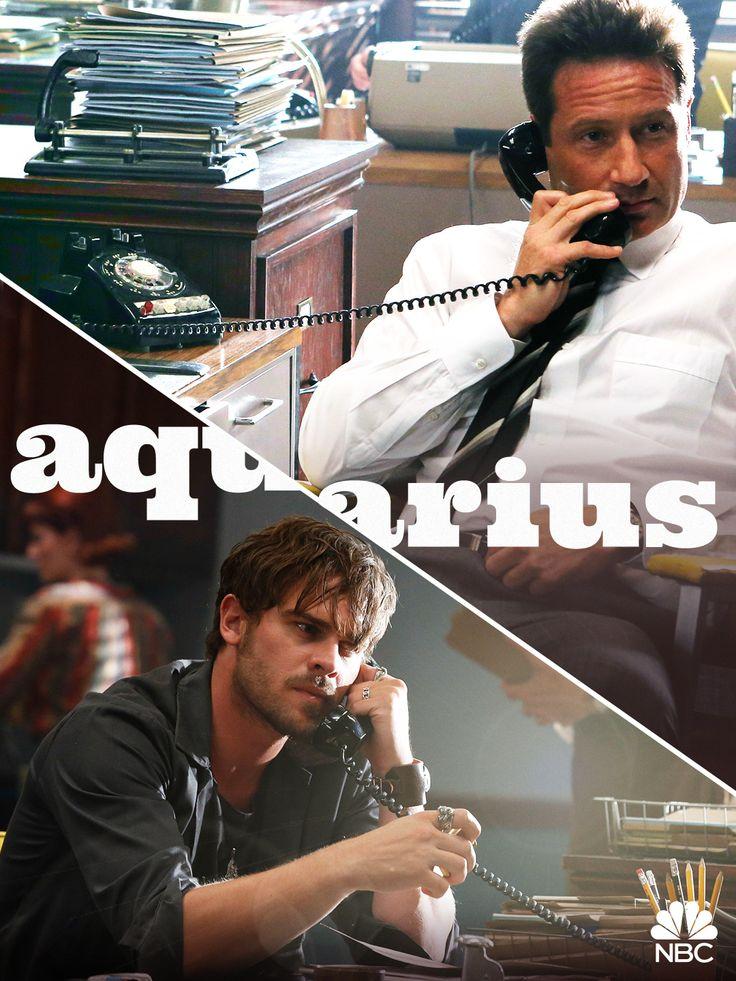 David Duchovny (Sam Hodiak) and Grey Damon (Brian Shafe) #Aquarius #Aquariusnbc
