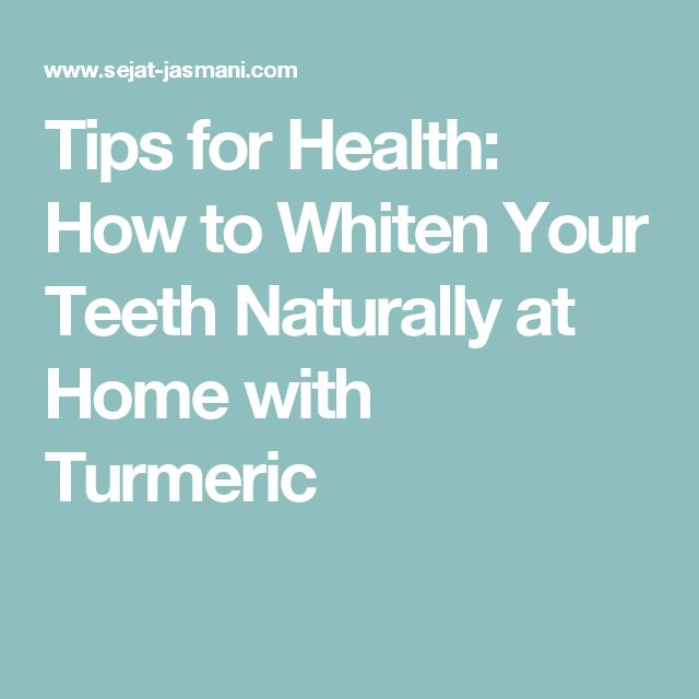 how to eat turmeric without staining teeth