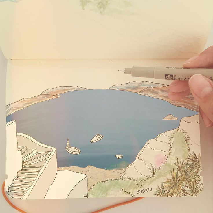 transferring some travel memories onto paper ⛵️ ❑ art by @ISKIII