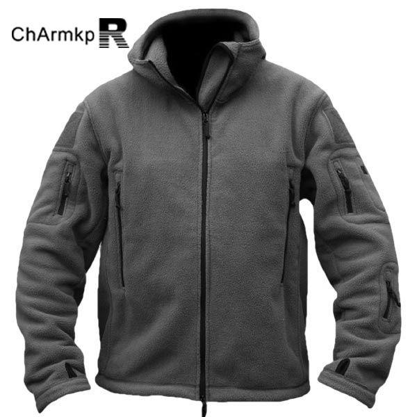 ChArmkpR Men Tactical Military Winter Fleece Hooded ...