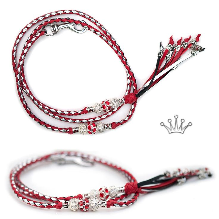FOR SALE! Kangaroo leather show lead in red & silver. Interested? Visit the link for more information! * * * #showlead #showleads #showleash #dogshow #emoticon #emoticonleads #emoticonshowleads #kangarooleather #showdog #customlead #customshowlead #dogshows #utställningskoppel #kangarooleatherlead #dogshowlead