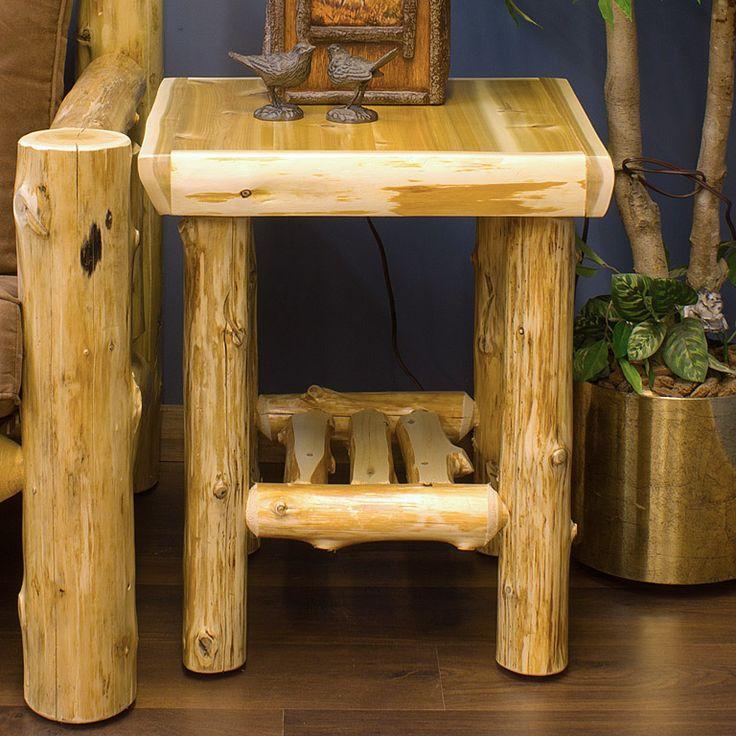 17 best ideas about log end tables on pinterest log. Black Bedroom Furniture Sets. Home Design Ideas
