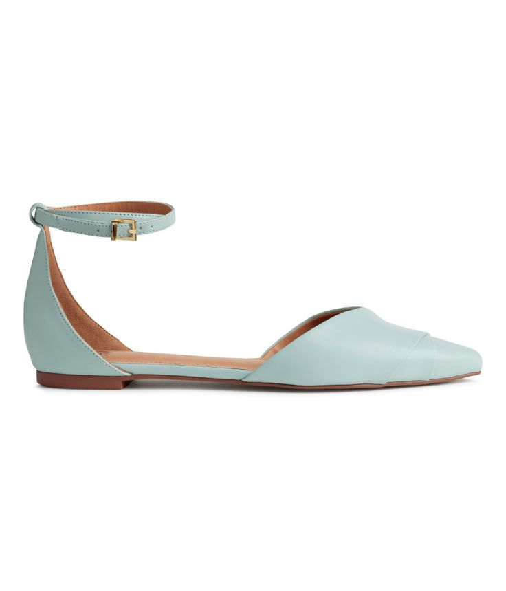 Flats in imitation leather with pointed toes.  | H&M Shoes