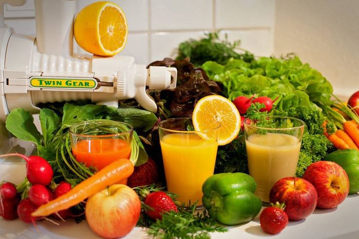 Les ingrédients pour les cures de jus