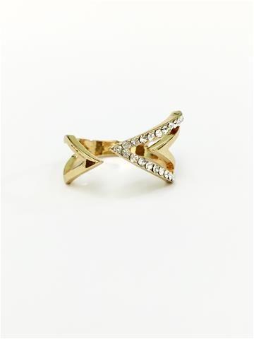 La Bella Donna - Γυναικείο δαχτυλίδι με λευκά στρας