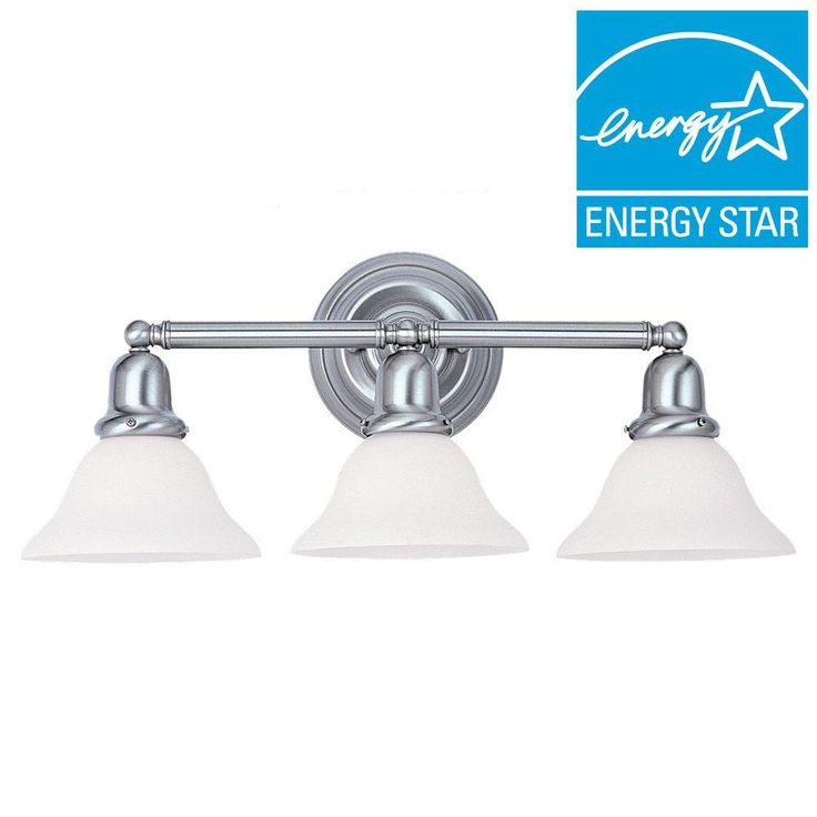Sea Gull Lighting Sussex 3 Light Brushed Nickel Vanity Light. 136 best Practical and Innovative Bathroom Light Fixtures images