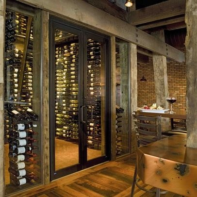 The Rustic Modern Wine Store In Keeping With The Rest Of