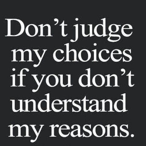 Judge no one