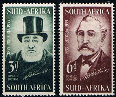 South Africa 1955 Centenary of Pretoria Set Fine Mint SG 145 6 Scott 214 5 Other South African Stamps HERE