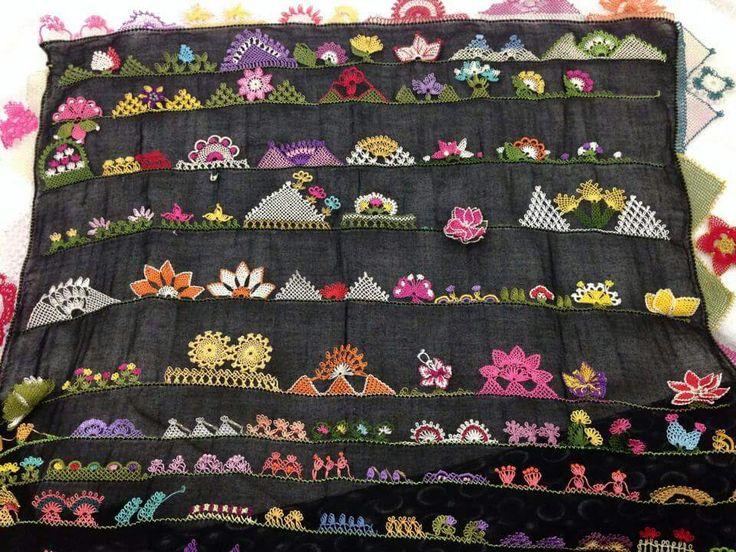Güzeller iğne oyası çember oyası Yemeni kenarı