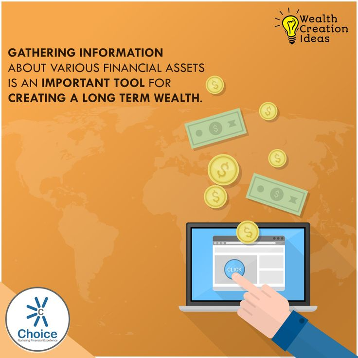 Gathering information about various financial assets is an important tool for creating a long term wealth.