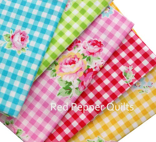 Flower Sugar 2013 by Lecien...LOVE the gingham floral!!