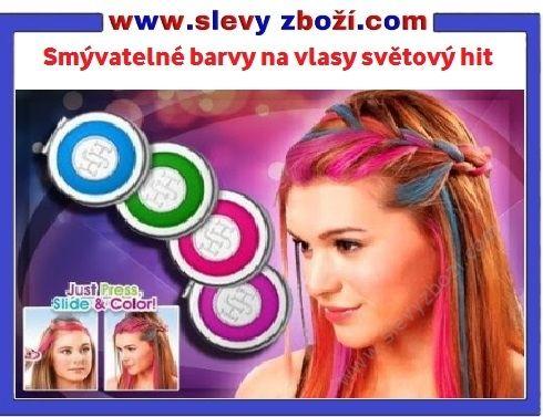 Smývatelné barvy na vlasy, účesy, 4 smývatelné barvy na vlasy hot huez, barvy na vlasy, barva na vlasy