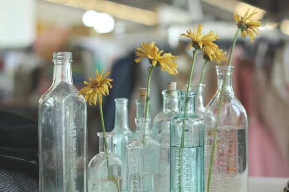 300 best images about vintage glass on pinterest for Flowers in glass bottles