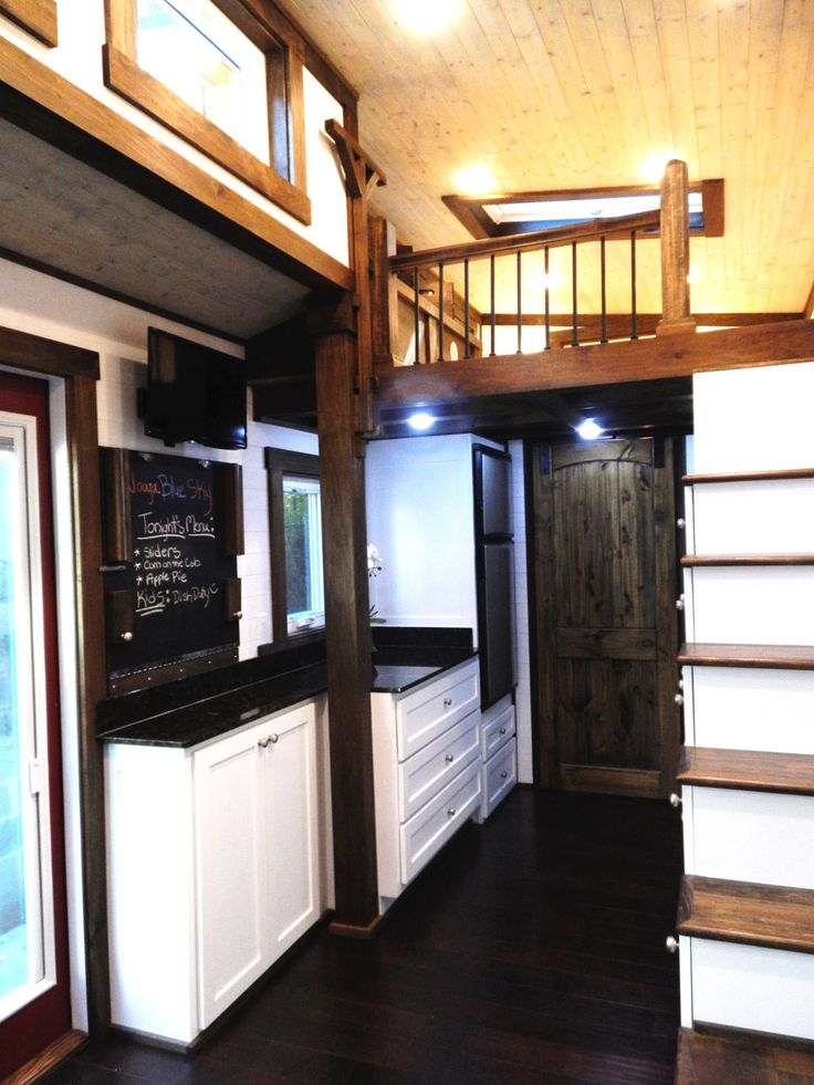 Captivating A Steel Frame Lofted Tiny House On Wheels In Chattanooga, Tennessee.  Designed And Built By Tiny House Chattanooga. I Like That The Fridge Is  Raised Up With ...
