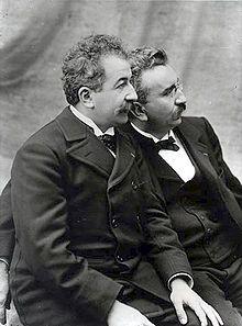 Auguste Marie Louis Nicolas Lumière, né le 19 octobre 1862 à Besançon et mort le 10 avril 1954 à Lyon1 et Louis Jean Lumière, né le 5 octobre 1864 à Besançon et mort le 6 juin 1948 à Bandol dans le Var, sont deux ingénieurs et industriels français qui ont joué un rôle primordial dans l'histoire du cinéma et de la photographie. Ils sont souvent désignés comme les frères Lumière.