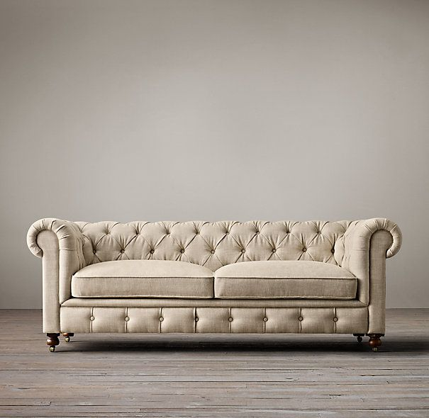 Restoration Hardware Kensington Upholstered Sofa - | Copy Cat Chic | chic for cheap