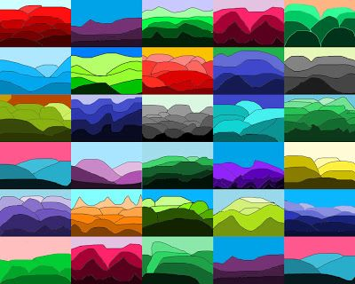 Art With Mr Hall: 10 min Value Landscapes II: tints, shades, complementary, digital art