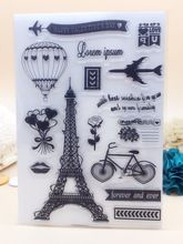 21x14.8CM France Eiffer Tower gift Clear Transparent Stamp DIY Scrapbook Card Decoration vacation decor(China (Mainland))