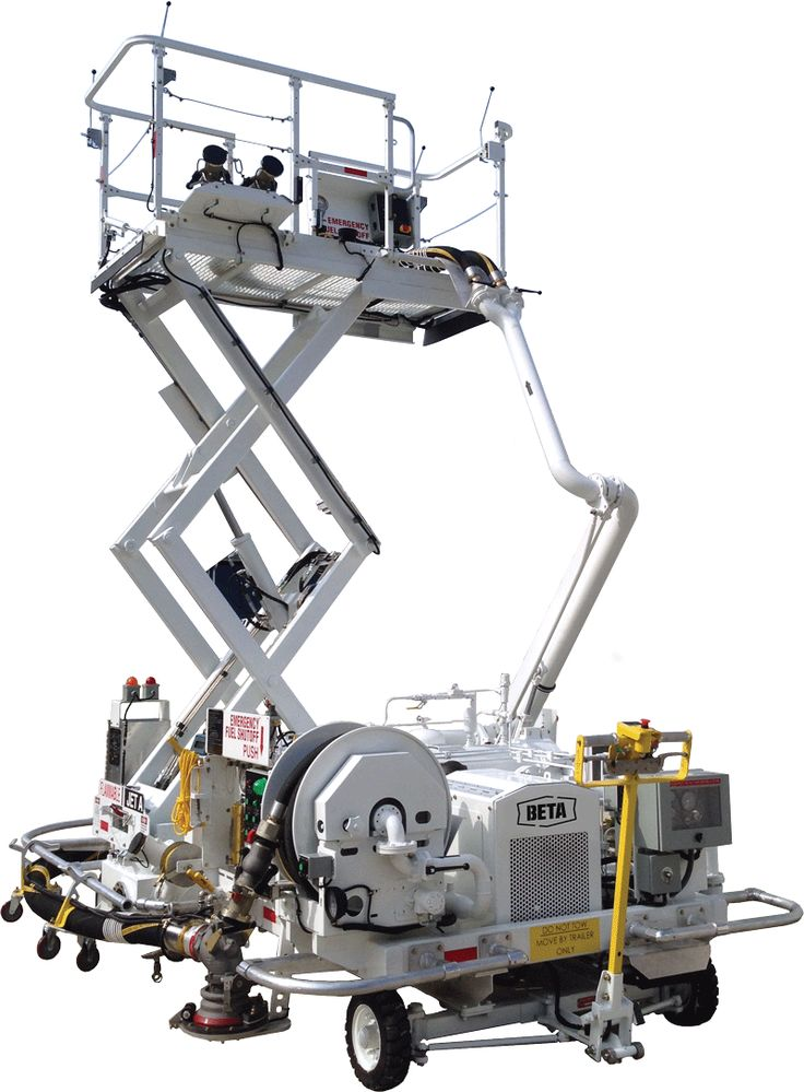 BETA's WBC 800 hydrant dispensing cart provides 800 Gallons per minute of aviation fuel to high wing, wide body aircraft via a lift deck that reaches up to to the A380 aircraft.  It is fitted as well as narrow body aircraft.