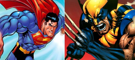 In this PIn, I am going to compare Superheroes- Superman vs wolverine or wolverine vs superman