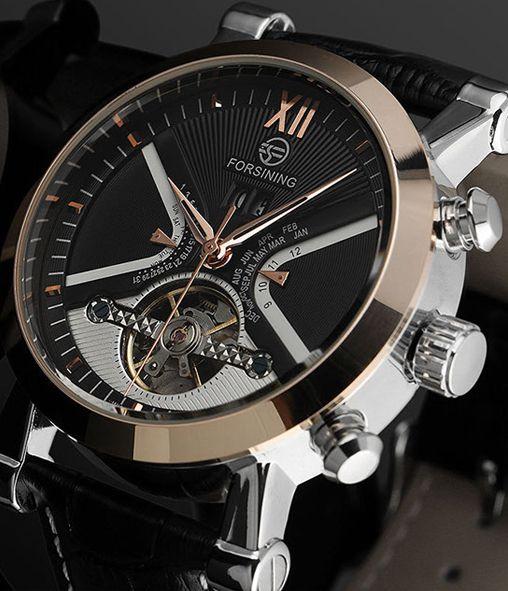 Механические Часы Forsining, никого не оставят равнодушными. Дорогой часовой механизм швейцарского качества. Эксклюзивный дизайн. Неубиваемый корпус из нержавеющей стали. Высокая точность. Механика с автоподзаводом