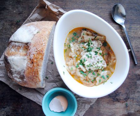 Sopa de Ajo- garlic bread soup with a poached egg....Heaven!!!!