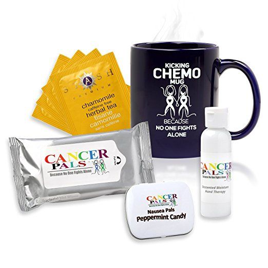 Cancer Patient Gift and Chemotherapy Gift Set-Kicking Chemo Mug Deluxe Set (Deluxe)