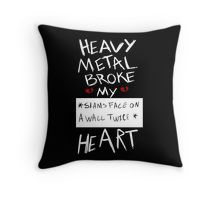 Fall Out Boy Centuries - Heavy Metal Broke My Heart Throw Pillow