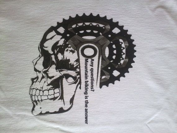 Men's Mountain Bike T Shirt Men's Bicycle T by CycloDesignShirt