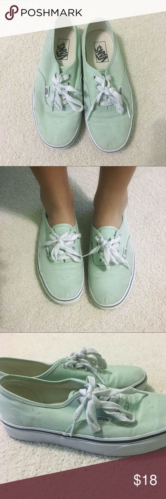 Mint Green Vans 7.5 Mint green vans. Size: 7.5 (Women's) Vans Shoes Sneakers