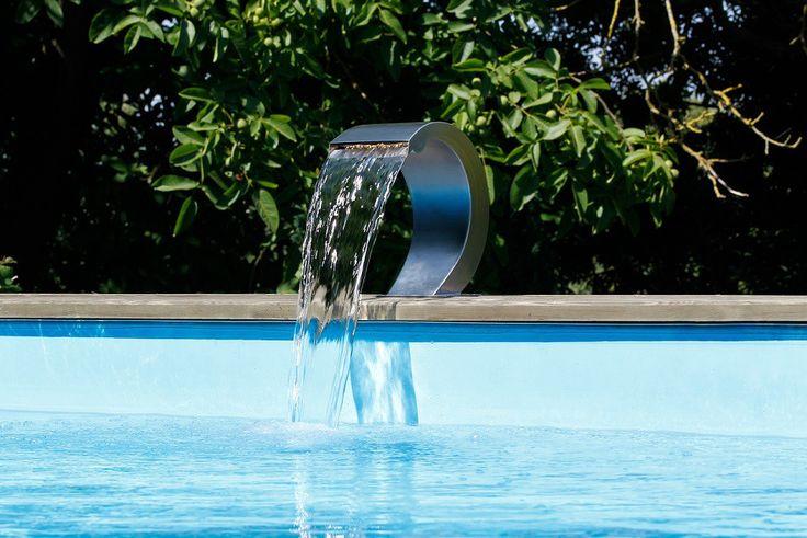mini cascade mamba s led inox pour piscine ubbink led. Black Bedroom Furniture Sets. Home Design Ideas
