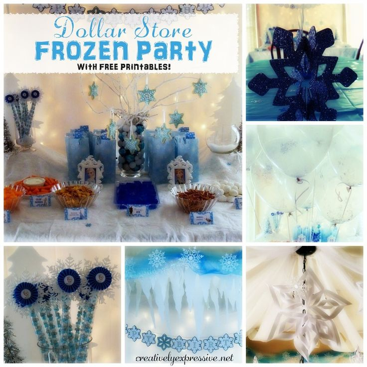 Dollar Store Frozen Party. Throw An Amazing Frozen Party