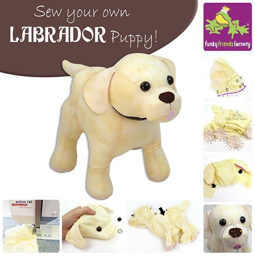 Lucky the Labrador come with a PHOTO TUTORIAL, so you can see EXACTLY how to sew this Labrador with lots of clever toy-making tips and tricks.