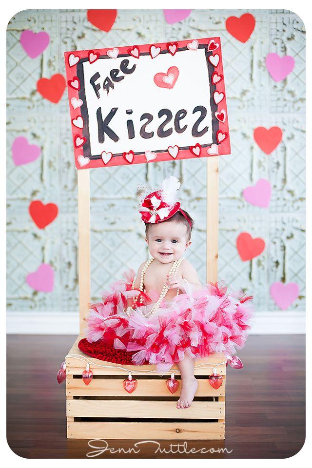 6 Months baby valentine mini session