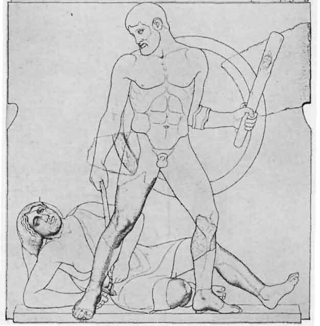 Herakles und der Gürtel der Hippolyte, Zeus Tempel, Olympia
